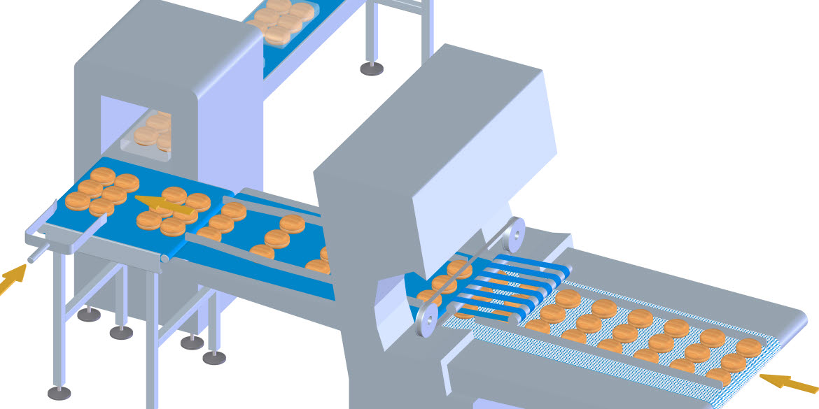 The last stage of production involves slicing, bagging, sealing and conveying the finished product to the end of the production line. This is also where the final inspection, including metal detection and weighing, takes place.