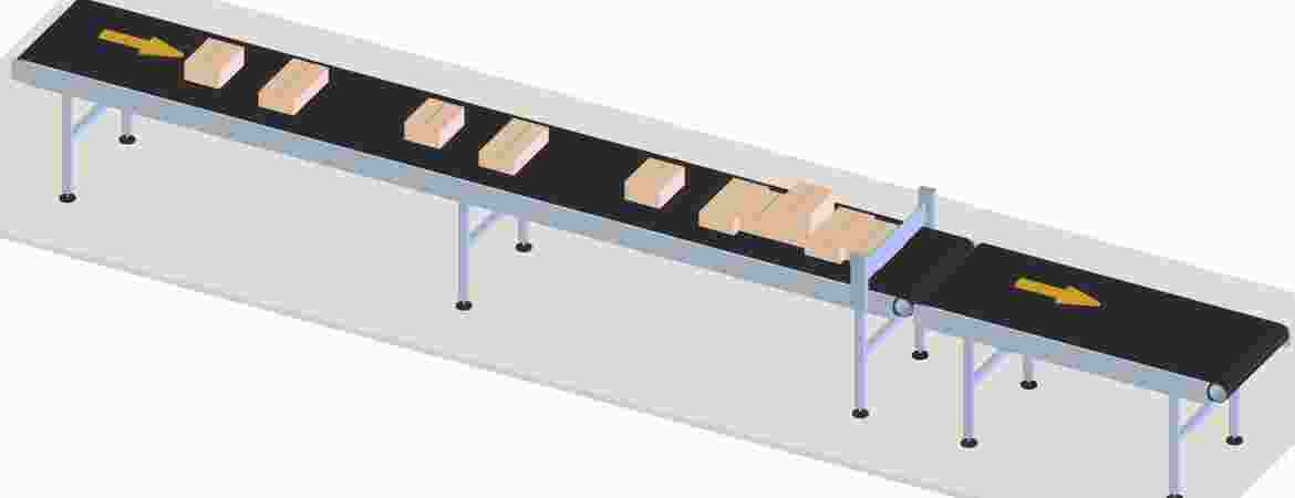 The stage of the operation where parcels are accumulated (collected) to ensure a constant flow into the induction stage.