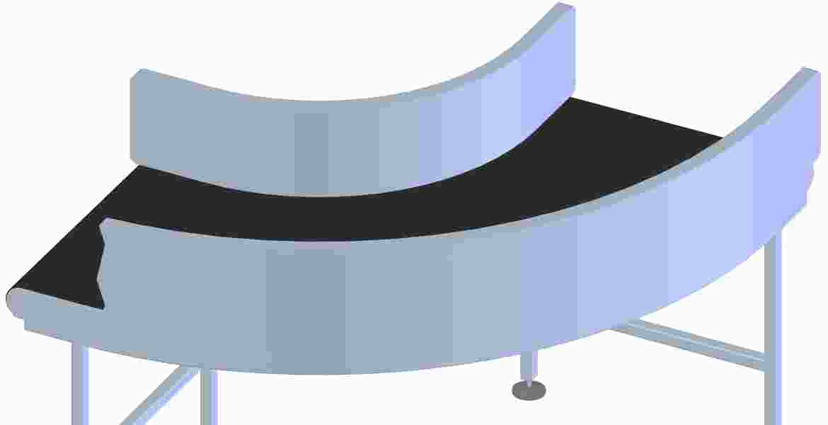 Curved Belts must be able to handle heavy loads and transport luggage smoothly.
