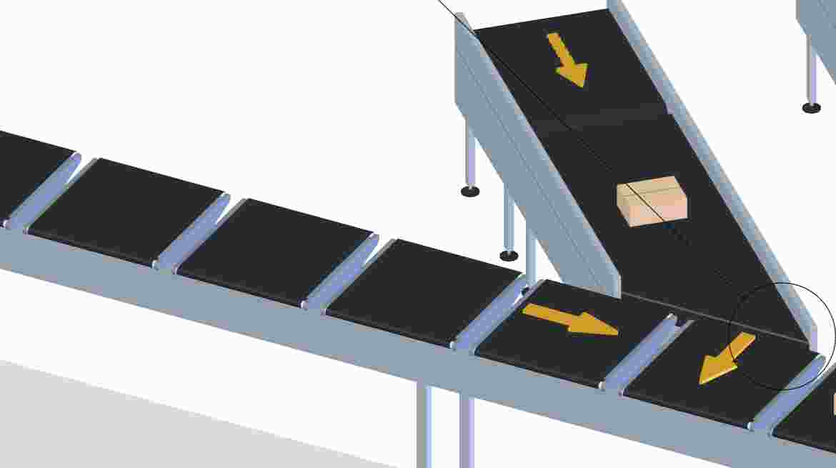 Merge conveyors are designed to link conveyors within the system, precisely adding parcels from one conveyor line to another at high rates of speed.